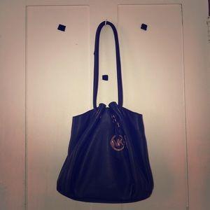 Good condition Michael kores navy blue purse